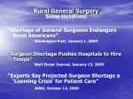 rural general surgery