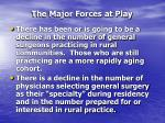 the major forces at play