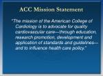 acc mission statement