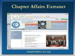 chapter affairs extranet