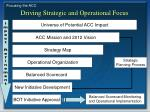 driving strategic and operational focus