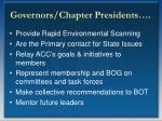 governors chapter presidents