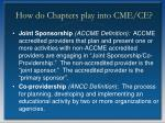 how do chapters play into cme ce