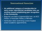international associate