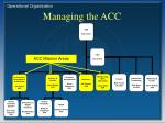 managing the acc9