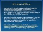 member affiliate