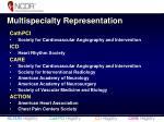 multispecialty representation