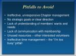 pitfalls to avoid