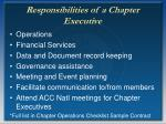 responsibilities of a chapter executive