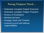 strong chapters need