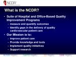 what is the ncdr