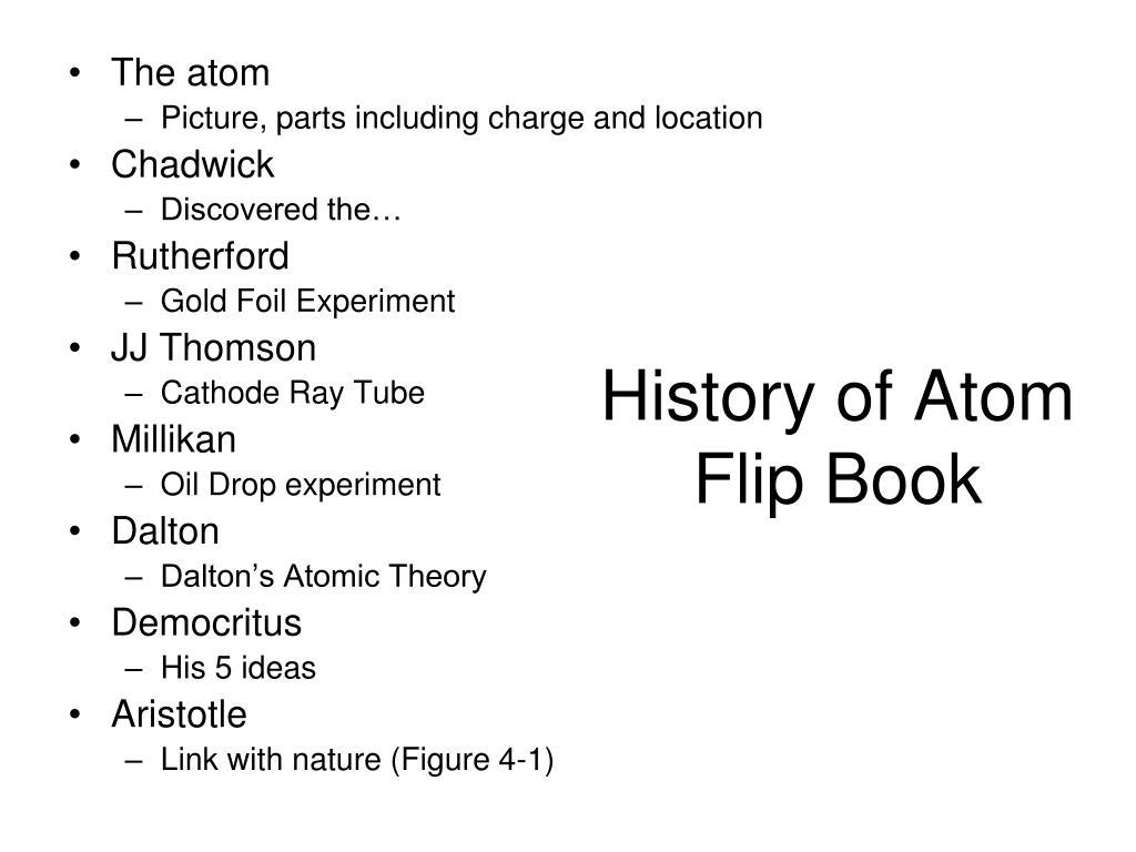 history of atom flip book l.