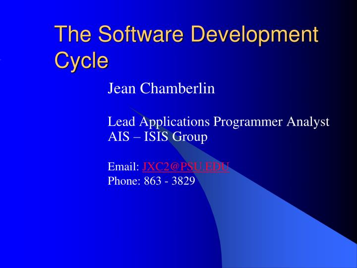 the software development cycle n.