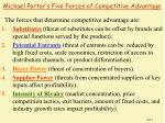 michael porter s five forces of competitive advantage