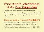price output determination under p ure competition