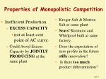 properties of monopolistic competition