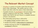 the relevant market concept