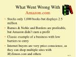 what went wrong with amazon com