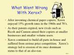 what went wrong with xerox