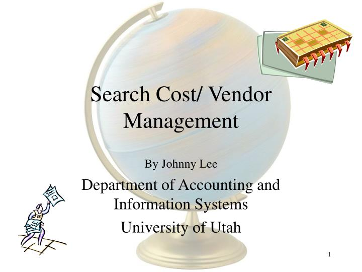 search cost vendor management n.