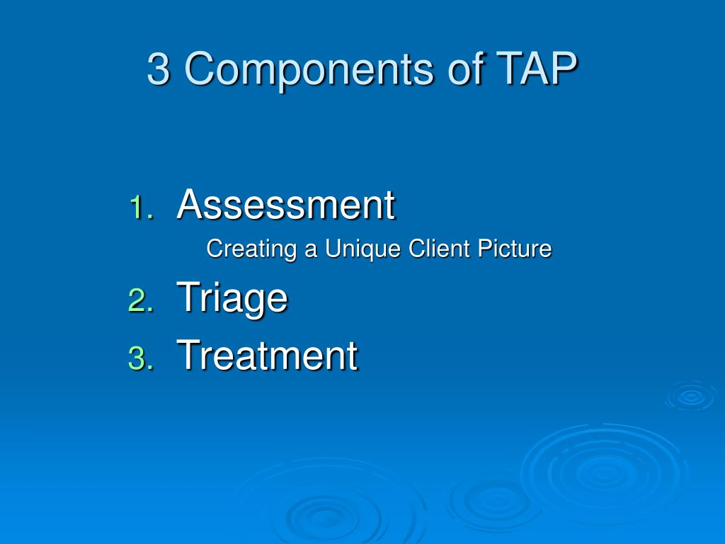 3 Components of TAP