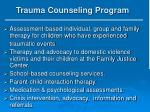 trauma counseling program