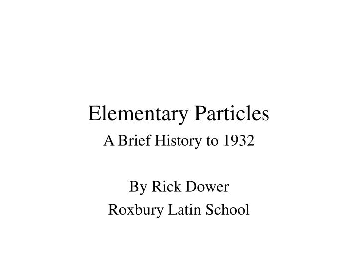 elementary particles n.