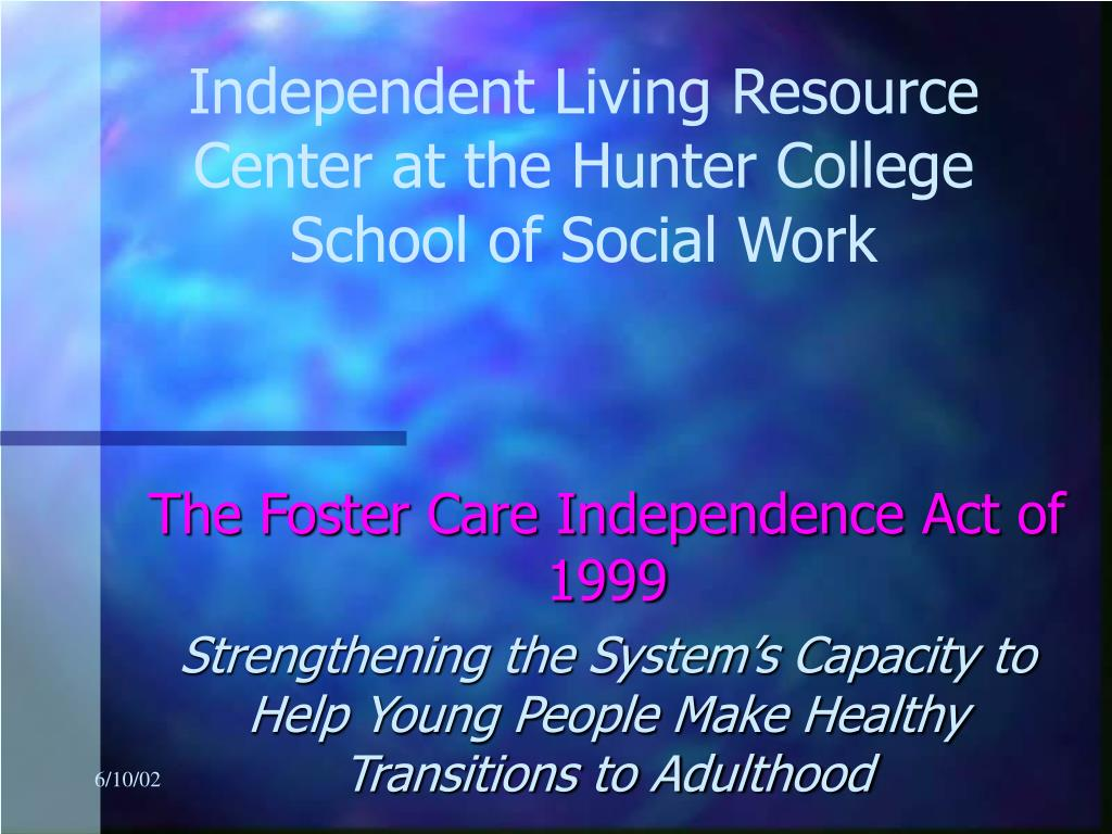 independent living resource center at the hunter college school of social work l.