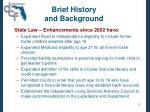 brief history and background5