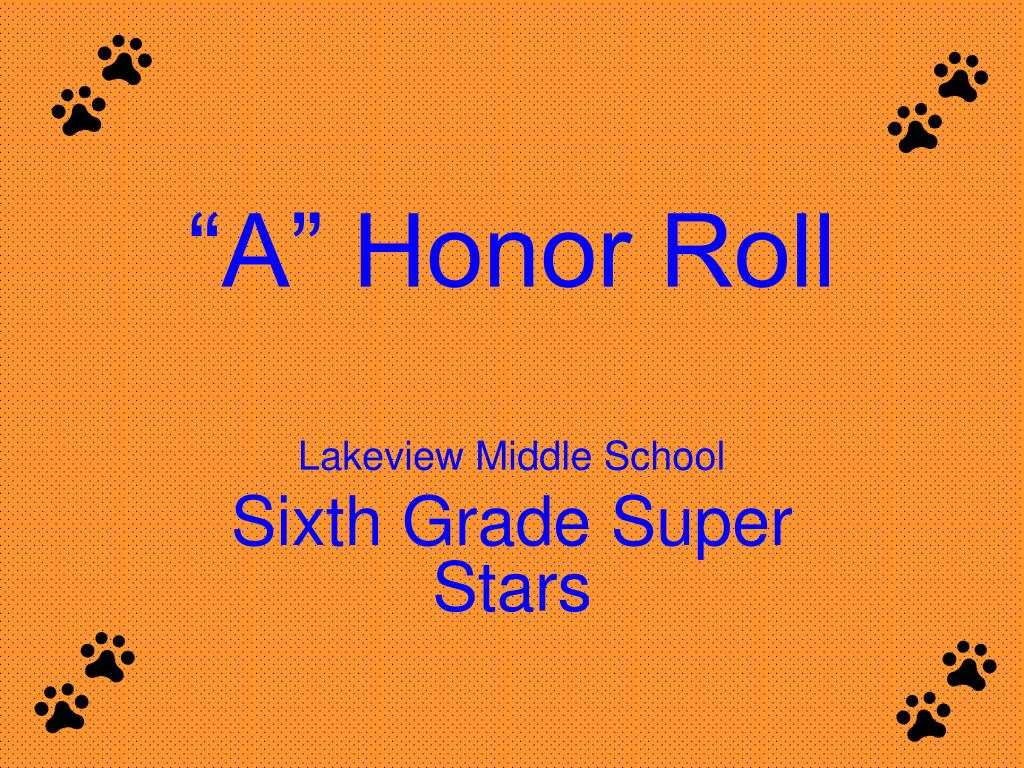 a honor roll l.