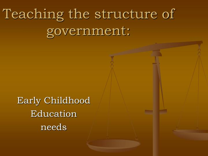 Teaching the structure of government