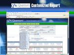 customized report