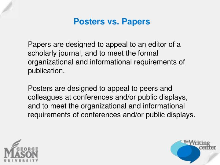 Posters vs. Papers
