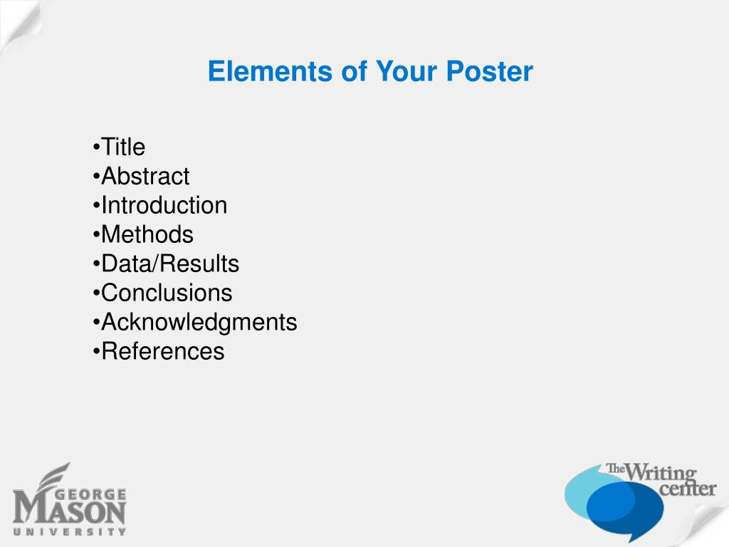 Elements of Your Poster