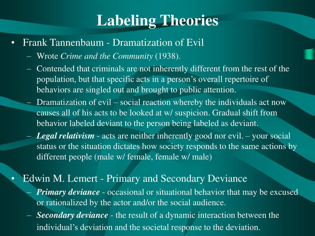 It is an image of Enterprising Labeling Theory Focuses on