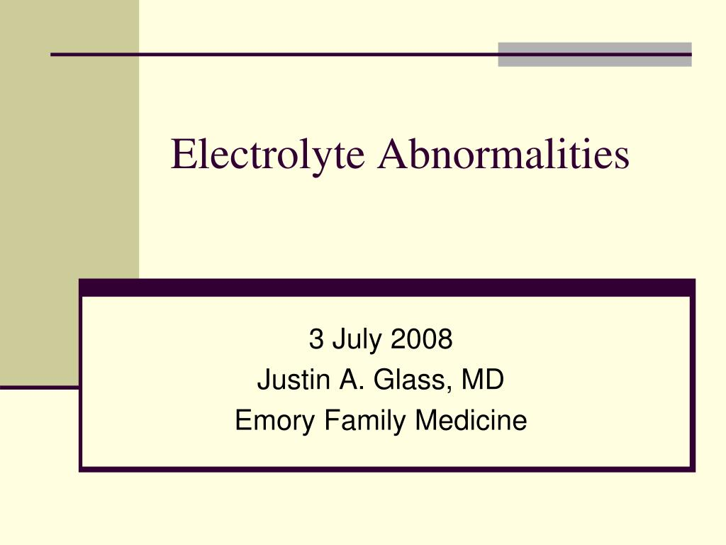 electrolyte abnormalities l.