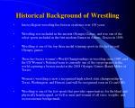 historical background of wrestling