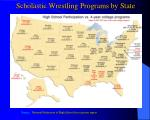scholastic wrestling programs by state
