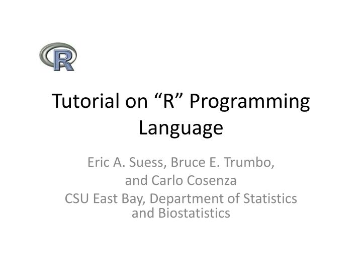 tutorial on r programming language n.