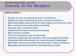 diversity and global cultures diversity in the workplace module guide 6 1