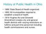 history of public health in ohio1
