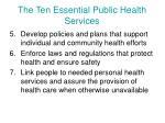 the ten essential public health services1