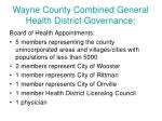 wayne county combined general health district governance1