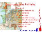 caratteristiche politiche