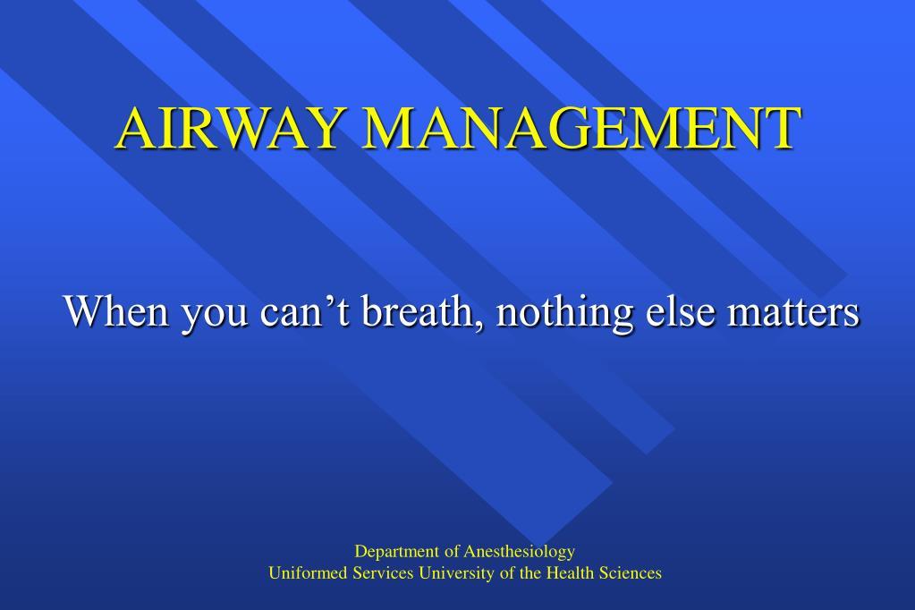 airway management l.