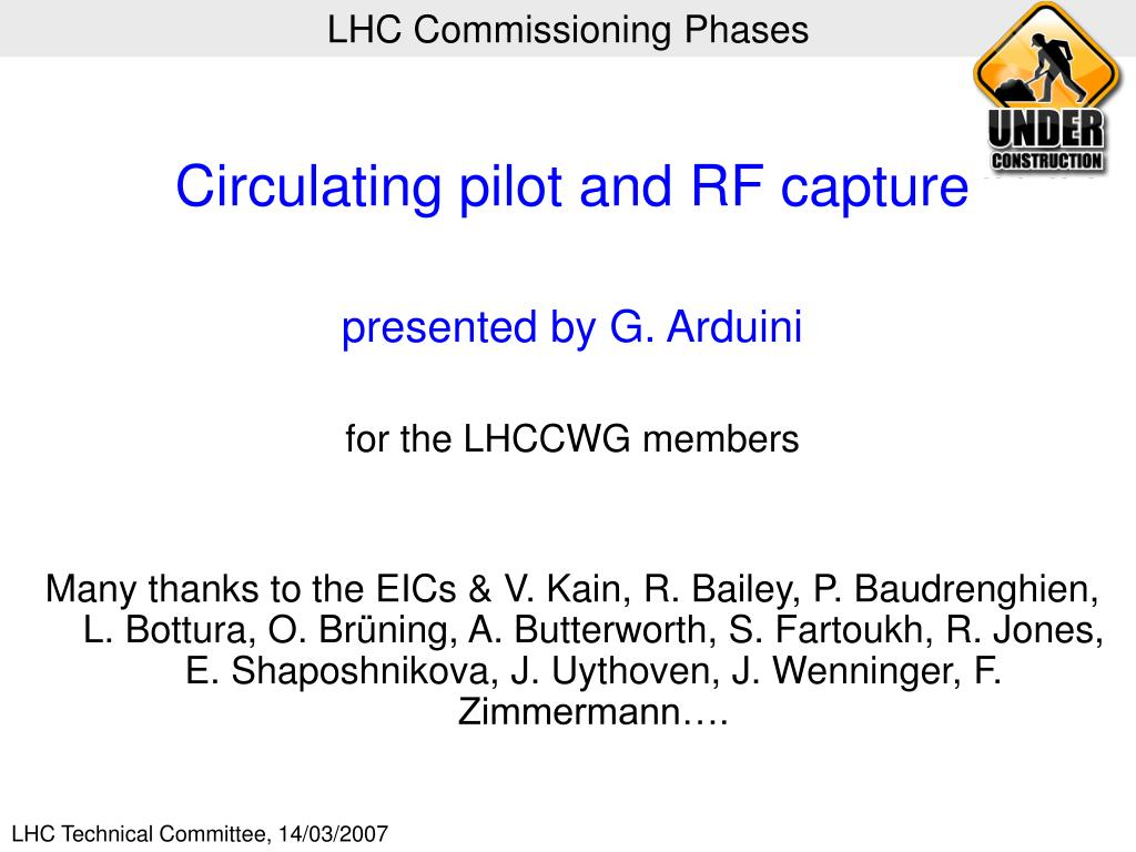 lhc commissioning phases l.