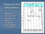 observed bed deformation