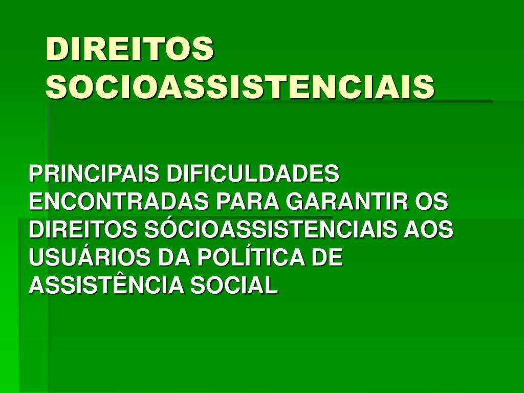 direitos socioassistenciais l.