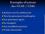 exemples d actions des ccas cias
