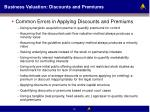 business valuation discounts and premiums43